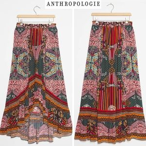 ANTHRO Bhanuni by Jyoti Allaire Hi-Low Maxi Skirt